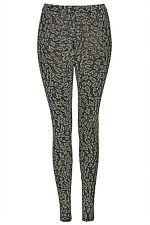 Brand New Topshop Leopard glitter leggings UK 6 in Multi/Glitter Gold