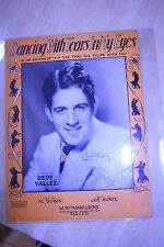 Sheet Music Broadway Movie Song Sheets Vintage Irving Berlin, Rudy Vallee Signed