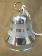 VINTAGE REUGE SILVER CHRISTMAS BELL WITH 18 NOTE MVMT