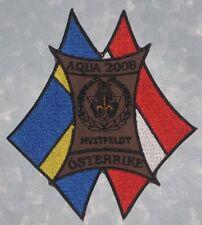 "Aqua 2008 Patch - Hvitfeldt Österrike - Boy Scouts - Germany  - 4 1/4"" x 4 5/8"""