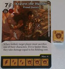 KRAVEN THE HUNTER: PROUD HUNTER 124/142 The Amazing Spider-Man Dice Masters Rare
