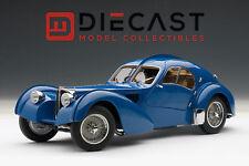 AUTOART 70943 BUGATTI 57SC ATLANTIC 1938 BLUE W/METAL WIRE-SPOKE WHEELS 1:18TH