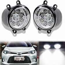 2x 9LED Fog Light Driving Lamp For Toyota Corolla Camry Yaris Lexus Avalon Yaris