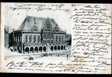 BREMEN (ALLEMAGNE) RATHHAUS / HOTEL DE VILLE Jour de Marché en 1901