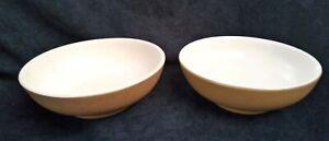 Denby Ode Cereal Bowls 17cm dia Mustard x 2