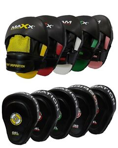 Maxx Inspire Curved Focus Pads with adjustable strap Boxing Punch Bag pad Glove