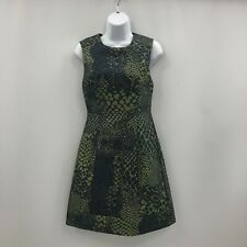Whistles A-Line Dress Size UK8 Short Green Blend Reptile Party Women's 290075