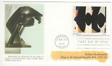 SSS: US Fleetwood FDC 2010 44c Abstract Expressionists, R Motherwell  Sc #4444