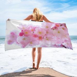 Pink Cherry Blossom Flower Bath or Beach Towel Decor