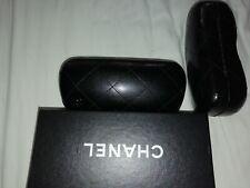 Chanel Glasses slim Case black with chanel  box