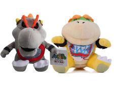 2pcs Super Mario Bros Baby Dry Bowser Bones & Bowser Jr Koop Plush Doll Soft Toy