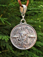 native american wolf eagle necklace BLESSED BY NATIVE howling silver suede round