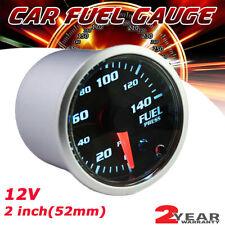 2' 52mm 7 Color Car Digital Led Display Psi Fuel Pressure Gauge Meter & Sensor