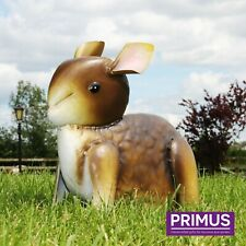 Primus Grey Baby Bunny Rabbit Metal Garden Lawn Statue Ornament SPECIAL OFFER!!