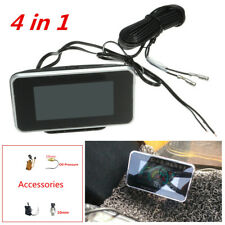 4IN1 LCD Digital Display Car Water Temperature/Oil Pressure/Fuel/Voltage Gauges