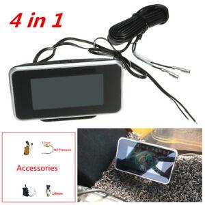 4IN1 LCD Digital Display Car Water Temperature/Oil Pressure/Fuel/Voltage Gauges