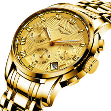 Reloj Relojes Relogio Masculino Dorados Regalos Para Caballero De Hombre Marca