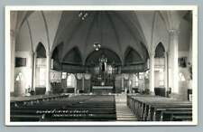 Church Interior NOMININGUE Quebec~Interieur Eglise Photo CPA Charpentier~1930s