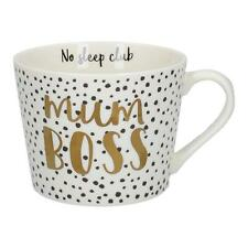Ava & I Mum Boss Squat Conical Mug Tea Coffee Cup No Sleep Club Mothers Day Gift