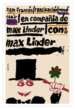 "Cuban decor Graphic Design movie Poster 4 French film""MAX LINDER""France art"