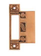 Eastlake Oriental bronze extended interior strike plate for mortise lock