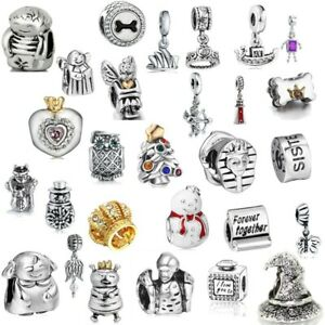 Charms Ringlike Bead European Spacer CZ Silver Fashion Fit 925 Necklace Bracelet