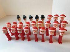 Huge Lot 25 Vtg Santa Pez Dispenser Frosty Snowman Christmas Holiday Party Favor