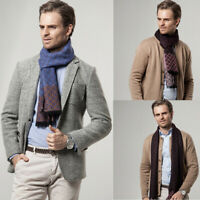 Men's Fashion Business Cashmere Scarf Winter Warm Shawl Cashmere Soft Sc kl