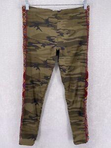 Johnny Was LA Camo Embroidered Pull On Skinny Leg Legging Pant Women's Medium
