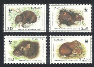 Jamaica WWF Brown's Hutia 4v 1986 MNH SG#899-902