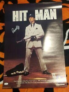 "DON MATTINGLY SIGNED ""HIT MAN"" 16X23 CONVERSE POSTER ORIGINAL (1986) JSA COA"