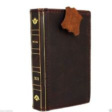 genuine retro leather Case fit apple iphone 6s book wallet Bible cover slim  6 s