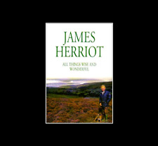 All Things Wise and Wonderful by James Herriot a paperback book FREE SHIPPING