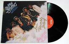 THE ISLEY BROTHERS SIGNED THE HEAT IS ON LP VINYL RECORD RON & ERNIE AUTO +COA