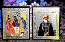 St.Sergius of Radonezh and St.Trinity of Sarov Russian Orthodox icon Diptych