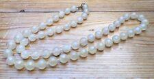 Kitsch Vintage Cream Bead Necklace/Transparent/Marbled Look/Unusual/Retro Look