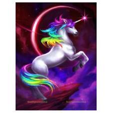 DIY 5D Diamond Embroidery Unicorn Horse Painting Cross Stitch Craft Art Decor