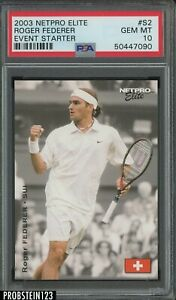 2003 Netpro Elite Tennis Event Edition #S2 Roger Federer PSA 10 GEM MINT