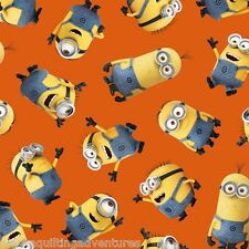 FABRIC Quilting Treasures  ~ DESPICABLE ME - 1 IN A MINION ~ (23990 O) by 1/2 yd
