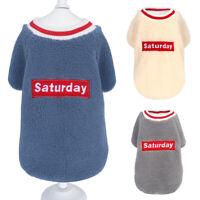 Warm Winter Dog Clothes for Small Medium Dogs Pet Fleece Sweater Vest Coat XS-XL