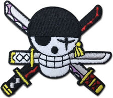 **Legit** One Piece Zoro Jolly Roger Skull Logo Iron On Authentic Patch #44269
