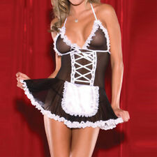Sexy lingerie Halloween French Maid Cosplay party Servant Fancy Dress Outfit