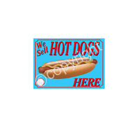 HOTDOG STICKER for catering trailer