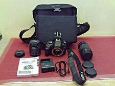 CANON EOS REBEL T6 Digital Camera W/ 75-300mm Lens 18-55mm Lens+accessories