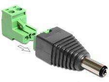 15cm Delock DC Stromkabel 5,5 x 2,5mm Winkelstecker 11 mm /> Terminalblock 2 pin