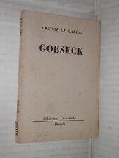 GOBSECK Honore De Balzac Rizzoli Biblioteca Universale 2116 1964 romanzo libro