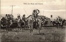 Postcard Chief Joe Healy and Braves Indians Native Americana Canada1907 L4