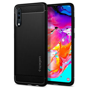Galaxy A70 | Spigen® [Rugged Armor] Protective Shockproof Slim Case Cover