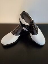 RARE! FOOTJOY CLASSICS DRY PREMIERE Men 9.5-D Calfskin Leather Golf.  BRAND NEW!