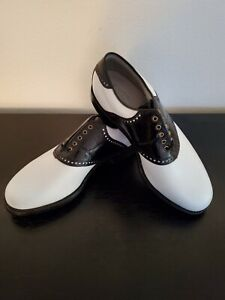 RARE! FOOTJOY CLASSICS DRY PREMIERE Men 9.5-D Calfskin Leather Golf.  BRAND NEW!